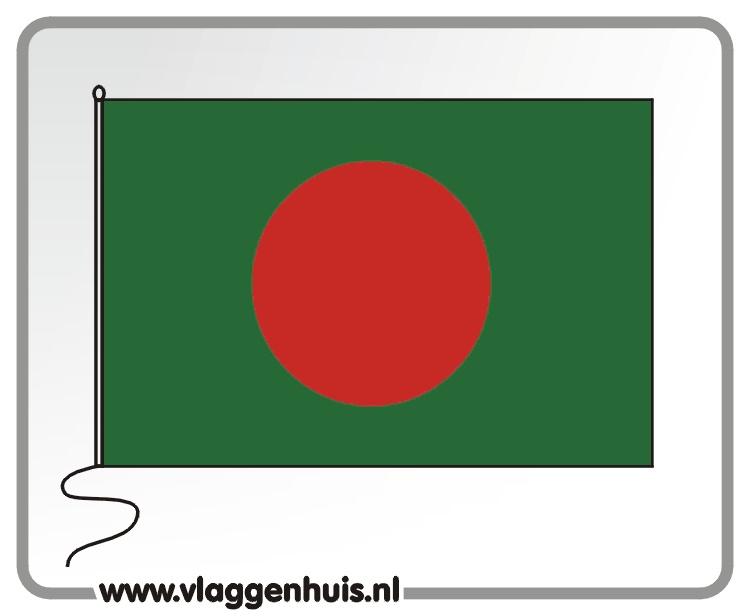 Tafelvlag Bangladesh 10x15 cm