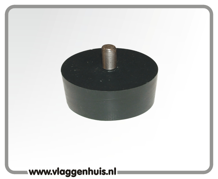 Adaptor zwart met M8 schroefdraad 90 mm