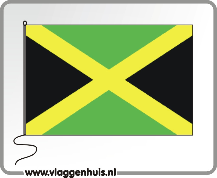 Tafelvlag Jamaica 10x15 cm