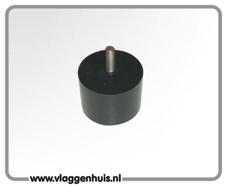 Adaptor zwart met M8 schroefdraad 70 mm