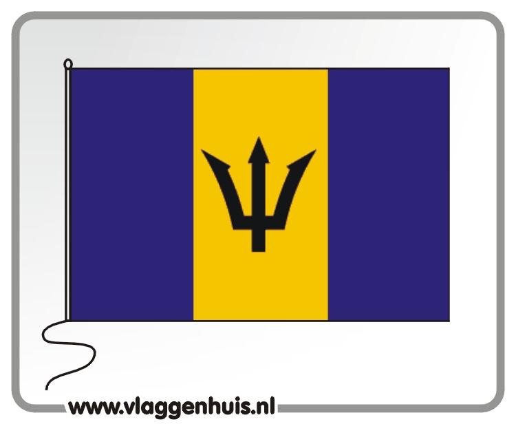 Tafelvlag Barbados 10x15 cm