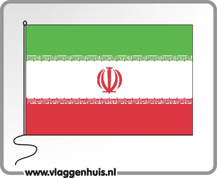Tafelvlag Iran 10x15 cm