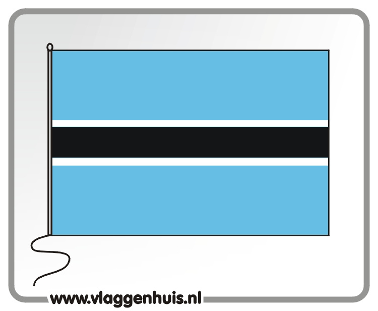 Tafelvlag Botswana 10x15 cm