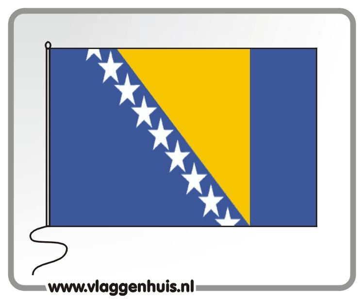 Tafelvlag Bosnië-Herzegovina 10x15 cm