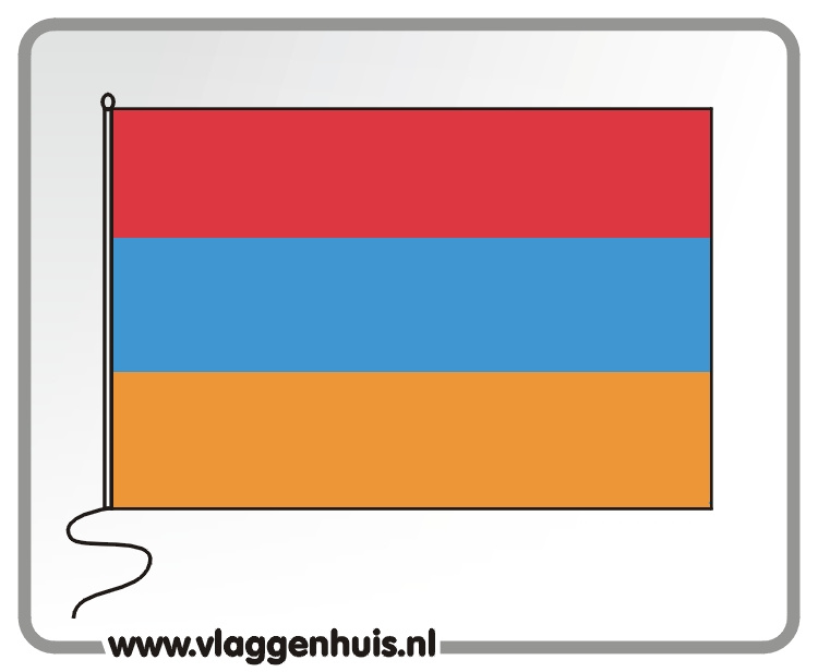 Tafelvlag Armenië 10x15 cm