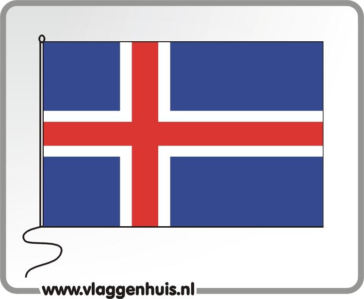 Tafelvlag Ijsland 10x15 cm
