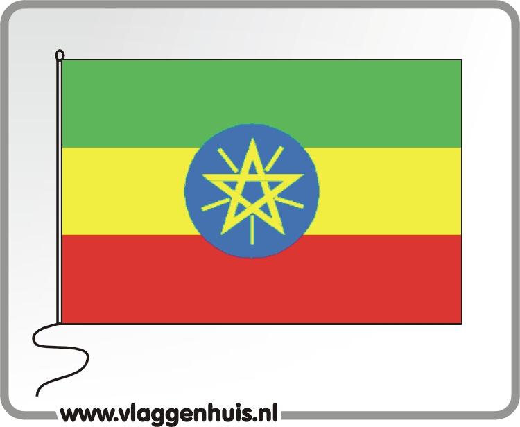 Tafelvlag Ethiopië 10x15 cm