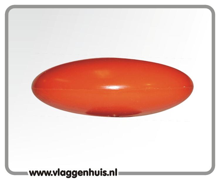Plat oranje knop, groot 210mm