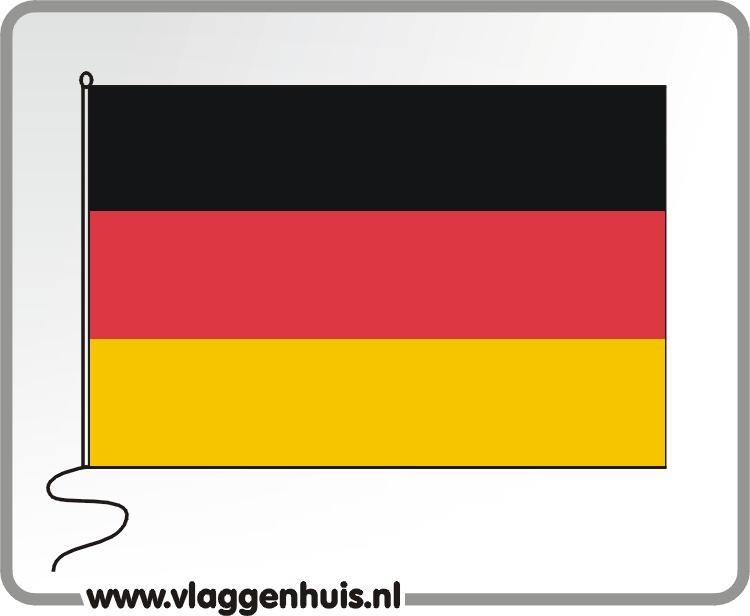 Tafelvlag Duitsland 10x15 cm