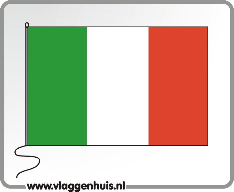Tafelvlag Italië 10x15 cm