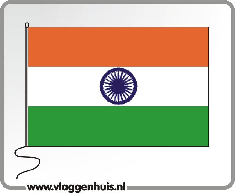 Tafelvlag India 10x15 cm