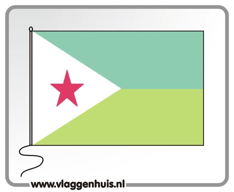 Tafelvlag Djibouti 10x15 cm