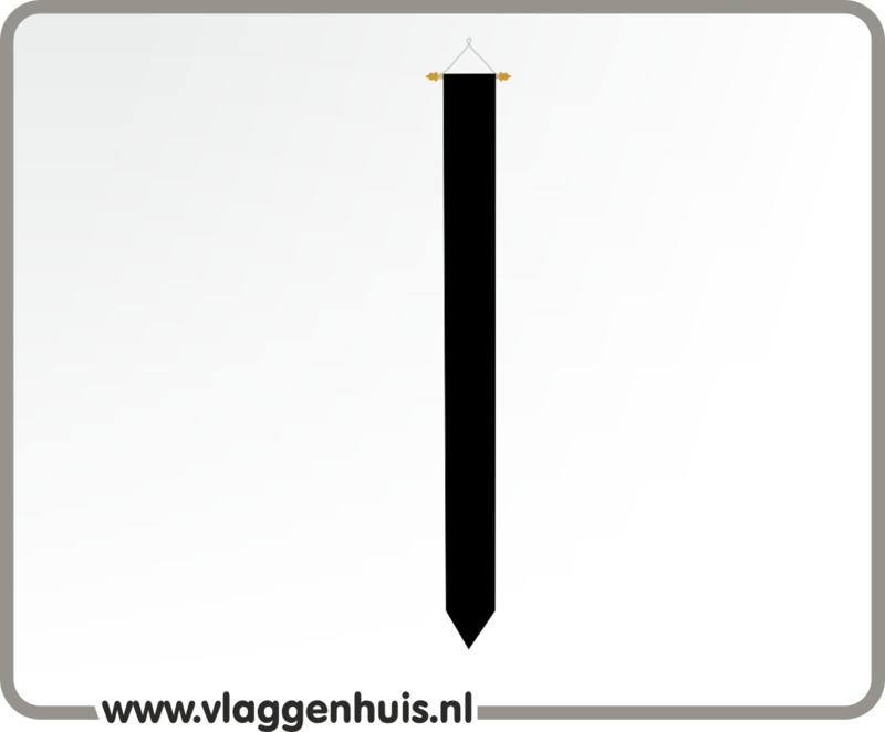 Wimpel zwart  rouwwimpel