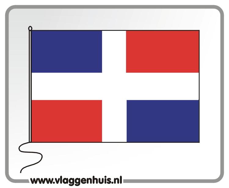 Tafelvlag Dominicaanse Republiek 10x15 cm