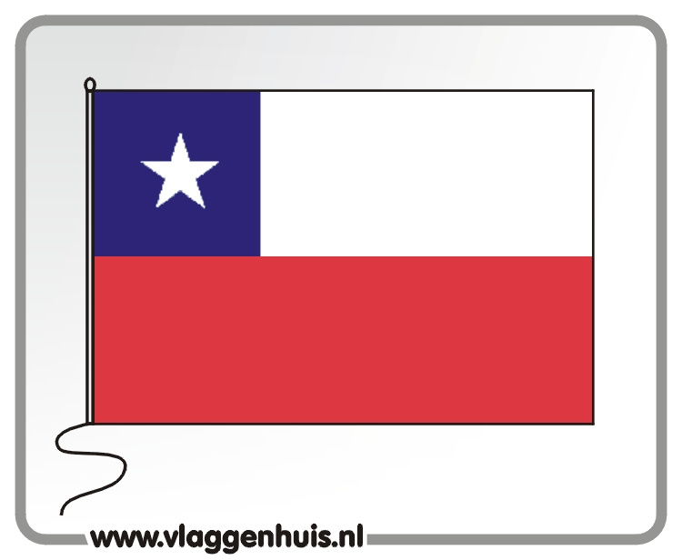 Tafelvlag Chili 10x15 cm