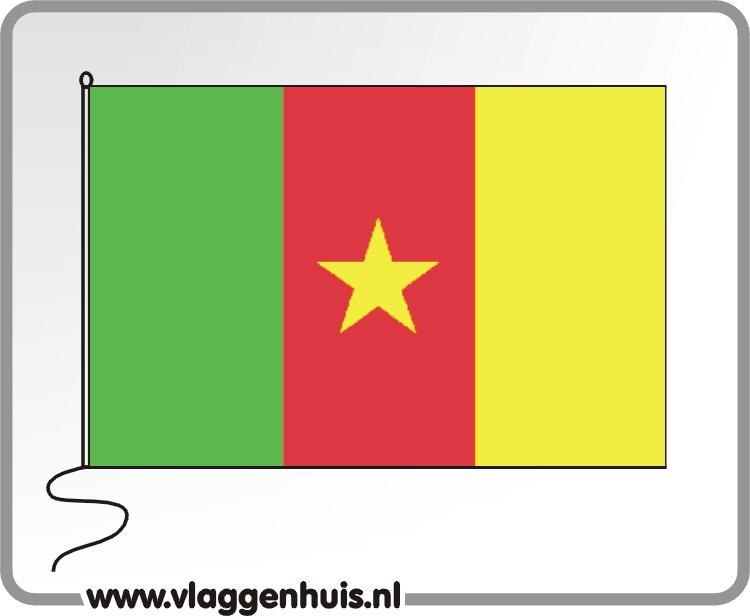 Tafelvlag Kameroen 10x15 cm