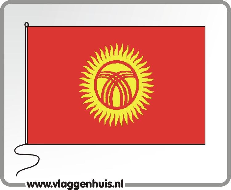 Tafelvlag Kirgizië 10x15 cm
