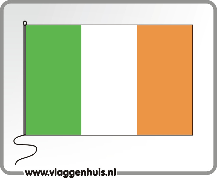 Tafelvlag Ierland 10x15 cm