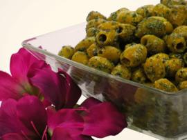Knoflook olijven 200 gram