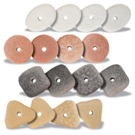Yellow Door - Sensorische rijgstenen (set van 16 stenen)