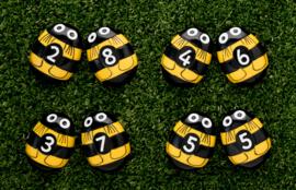 Yellow Door - Bijtjes telstenen (set van 20 stenen)