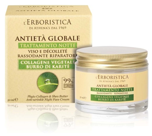Gezicht- en decollete nachtcrème met Phyto Collagen en shea boter (50 ml)