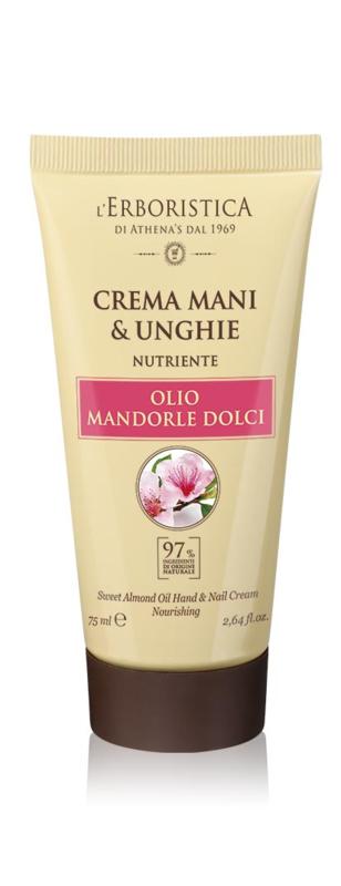 Hand- en nagelcrème  op basis van zachte amandelolie (75 ml)