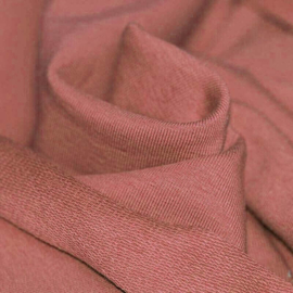 French Terry organic clay pink