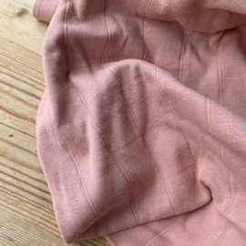 Double gauze tricot nude pink