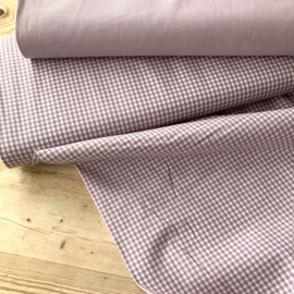 Yarn dyed poplin small check orchid