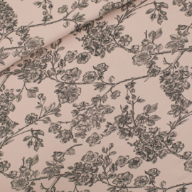French terry Blossom Pale Pink