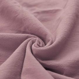 Gewassen katoen oud-roze