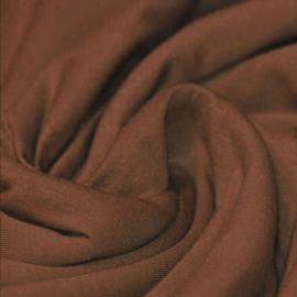 Uni GOTS tricot - Warm bruin