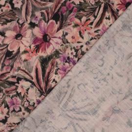 Winterviscose linnen flowerprint