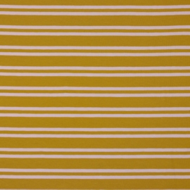 Tricot two stripes geel