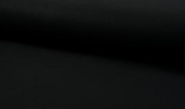 Mantelstof wolmix zwart