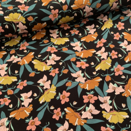 Viscose twill Rosella black
