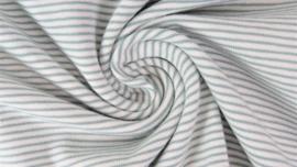 Tricot fijne streep dark mint