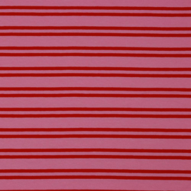 Tricot two stripes roze-rood