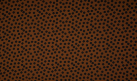 Crepe Georgette dots havanna brown