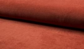 rekbare corduroy fine rib Terracotta