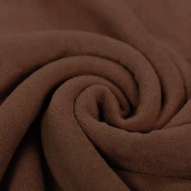 Rekbare badstof bruin