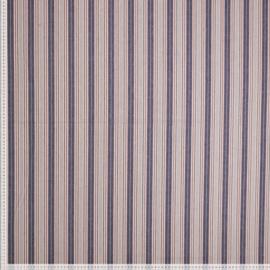 Gerecycleerde katoen streep blauw