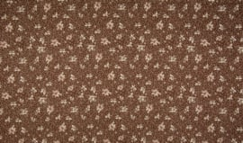 Katoen vintage brown flowers