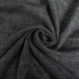 Gewassen linnen denim black