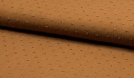 Viscose crincle met geborduurd bolletje