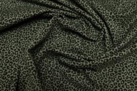 Tricot mini leopard khaki