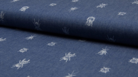Chambray print bugs & beetles