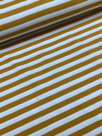 Tricot streep 1cm geel
