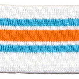 Manchettenboord Oranje-blauw